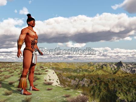 aztekischer krieger