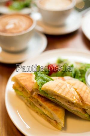 frühstück, mit, kaffee, und, panini - 15839127