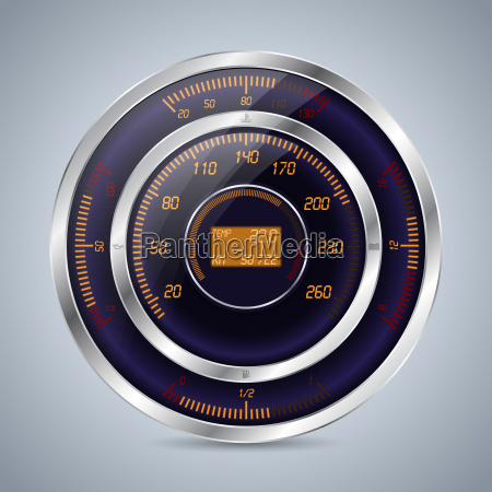 fully digital speedometer rev counter in