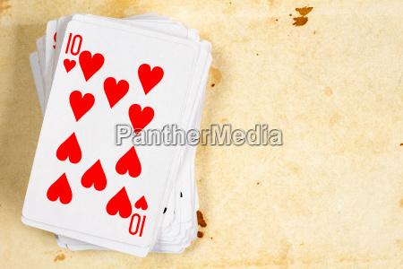 zehn herzen spielkarte