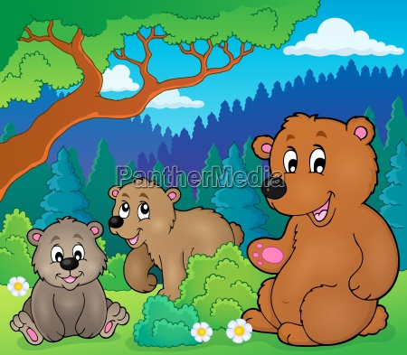 bears in nature theme image 1