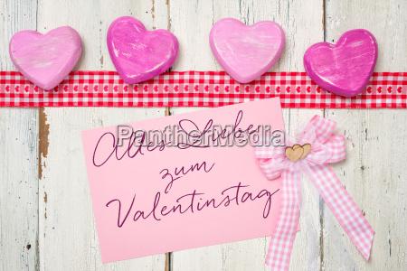 rosa karte alles liebe zum