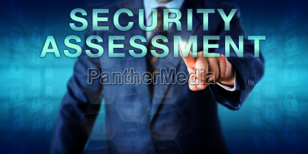 consultant touching security assessment onscreen
