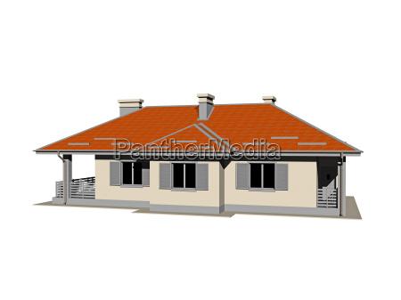 bungalow freigestellt