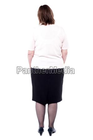 rear view of a senior woman