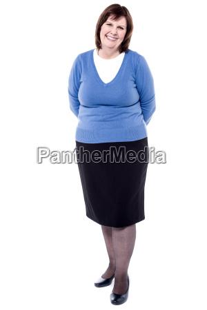 woman posing to camera