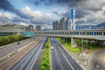 hong kong highway traffic
