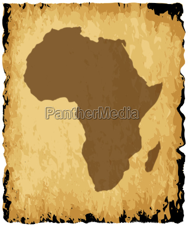 alte afrikanische karte