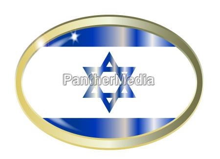 israel flaggen oval knopf