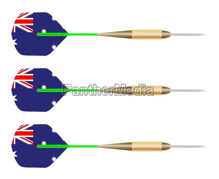 australian darts flag set