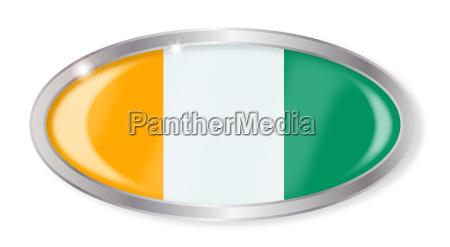 elfenbeinkueste flagge oval button
