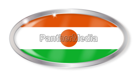 niger flagge oval button