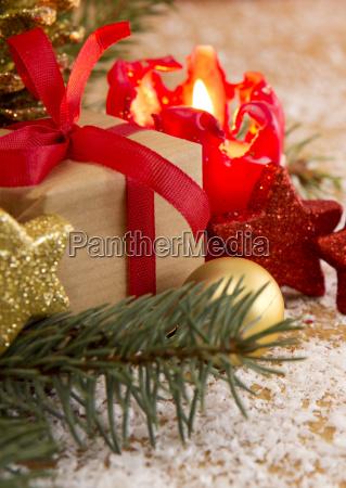 christmas cardadvent candle and decoratipon