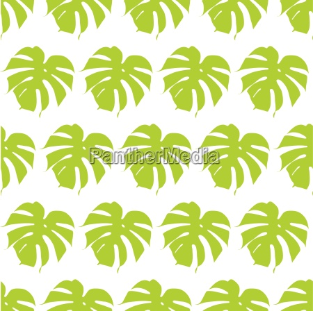 monstera silhouettes seamless pattern vector illustration