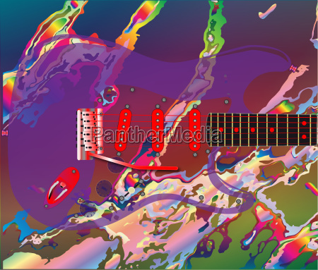 psychedelic guitar background