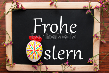 tafel frohe ostern