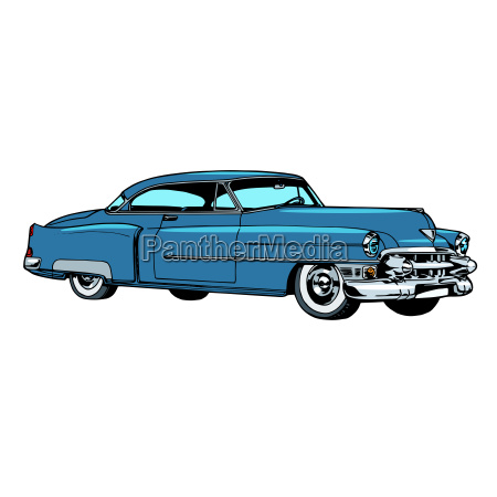retro blue car classic abstract model
