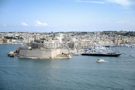 view of grand harbour valletta malta