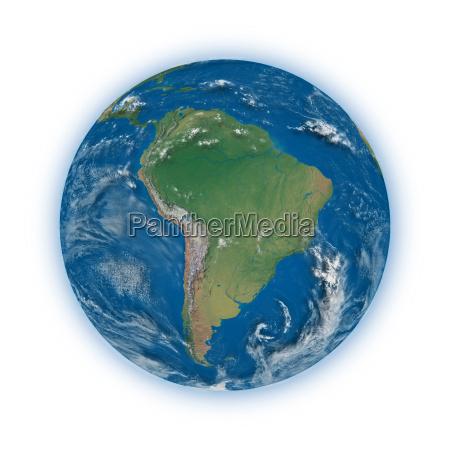 suedamerika auf dem planeten erde