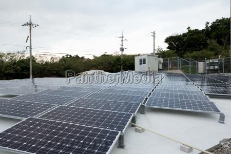 solarenergie panel auf dem dach