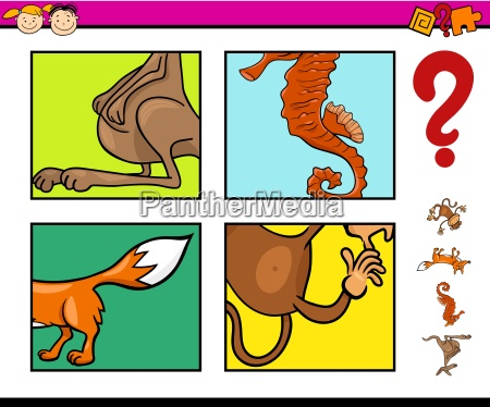 preschool task with animals