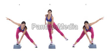 aerobic lateral sprung auf schritt
