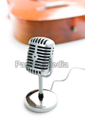 vintage silbernes mikrofon