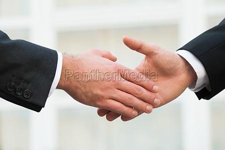 businessman shaking hands with partner