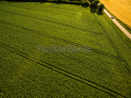 farmland from above aerial image