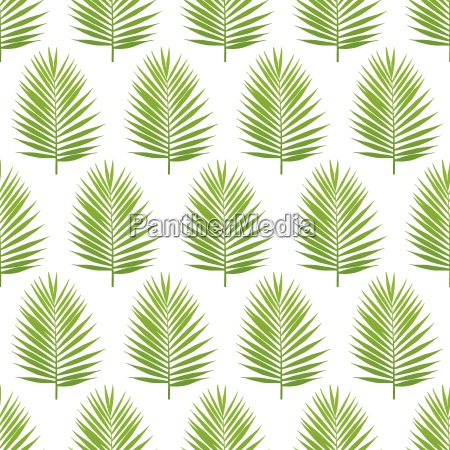 palm leaf silhouette seamless pattern tropical