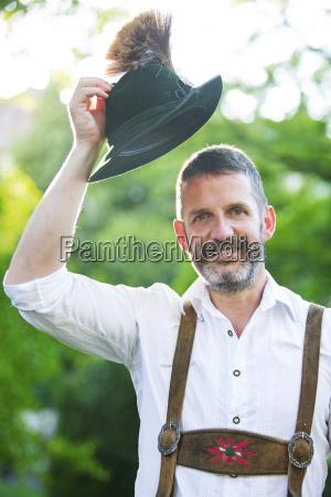 portraet des bayerischen mann