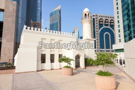 moschee in der innenstadt von doha