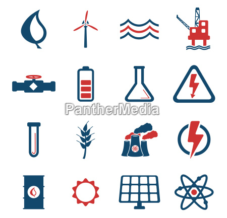 stromerzeugung einfach symbole