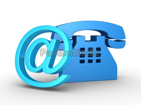 telefonsymbol und e mail symbol
