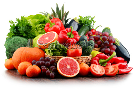 composition with variety of fresh vegetables