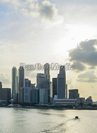 singapore with beautiful sky