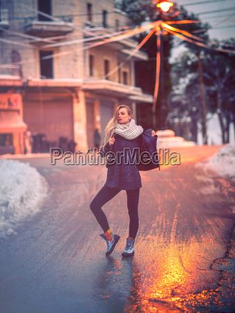 stylish girl on the street