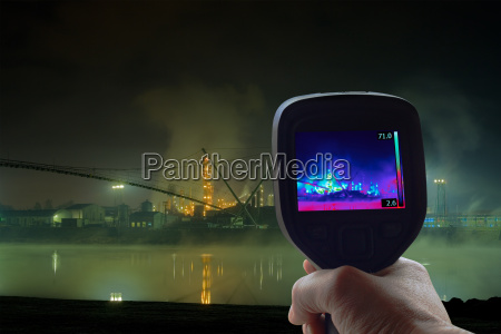 petrochemical plant infrared