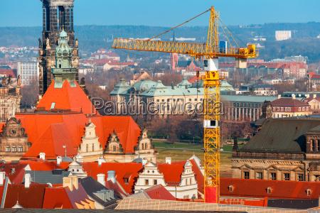 restaurierungsarbeiten in der altstadt dresden deutschland