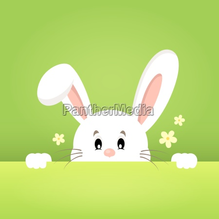 image with lurking easter bunny theme