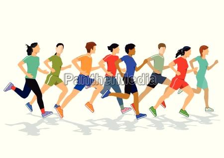 jogger und laeufer