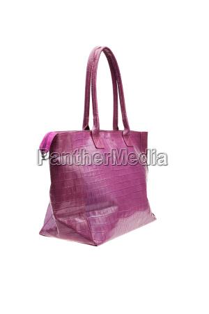 violet womens tasche isoliert auf weissem