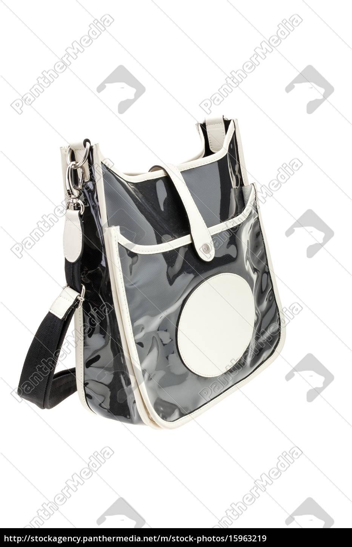 02178e560df01 Stockfoto 15963219 - schwarz glänzend frau tasche isoliert auf weißem .
