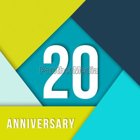 20 jaehriges jubilaeum material design vorlage
