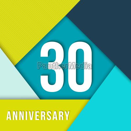 30 jaehriges jubilaeum material design vorlage