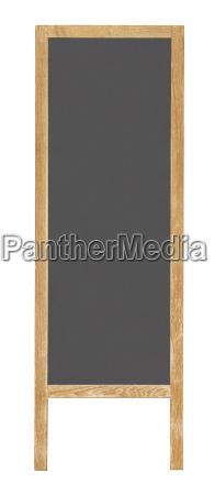 street vertikale menue board ausschnitt