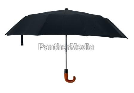 black open gentleman umbrella cutout