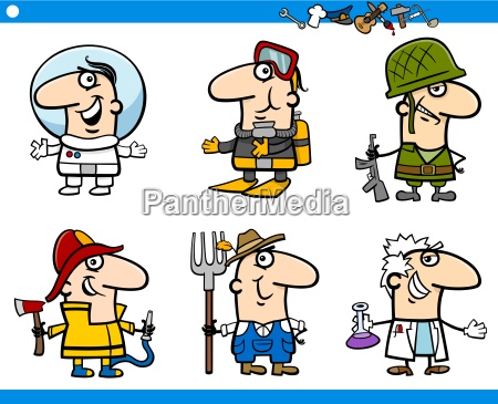 people occupations characters set