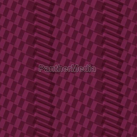 nahtloses rosa muster von quadratischen kreuzungen