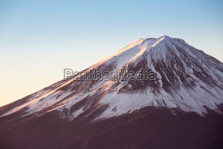 berg fuji sonnenaufgang japan